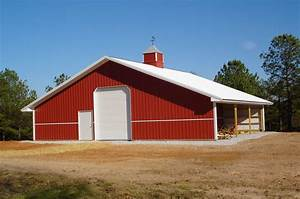 How to build steel shed san san for Aluminum pole barn