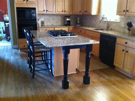 Kitchen Island Legs For Sale by Kitchen Island Support Legs And Skirt Make A Beautiful