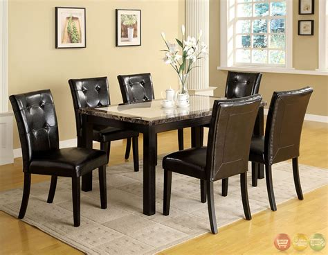marble breakfast table sets atlas i contemporary black casual dining set with faux