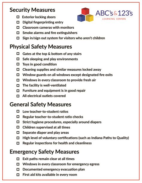 your childcare safety checklist is your daycare safe 615 | checklist blog