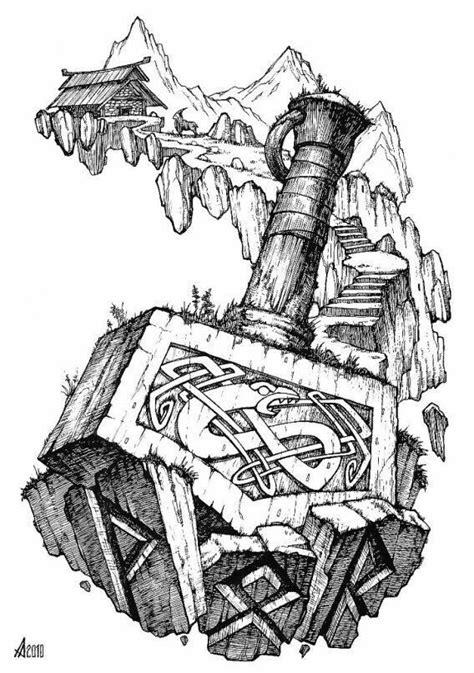 Thor's shitlayin hammer. …   Тату со скандинавской тематикой, Татуировки викингов и Татуировки