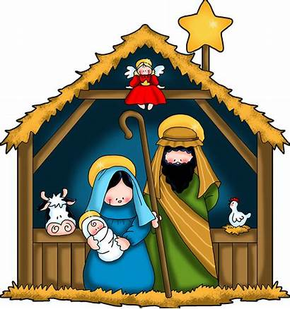 Nativity Animated Cliparts Clipart Manger Scene Christmas
