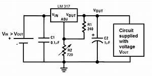 lm317 voltage regulator With an adjustable voltage regulator lm317 to design the charging circuit