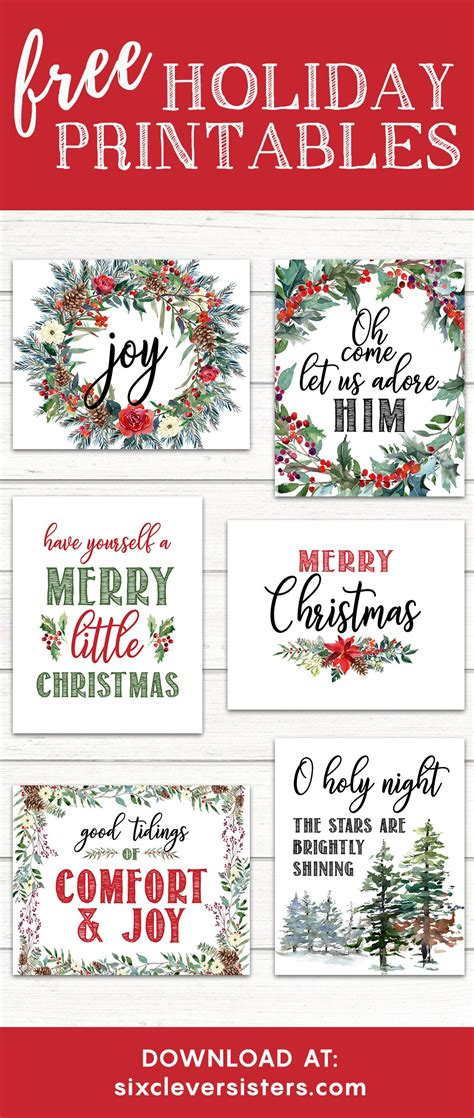 6 Free Printable Christmas Signs  Six Clever Sisters