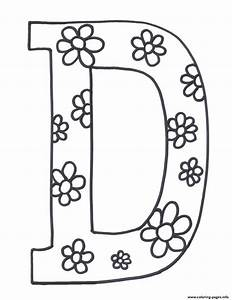 free printable letter coloring pages - flowerish d printable alphabet sd0a2 coloring pages printable