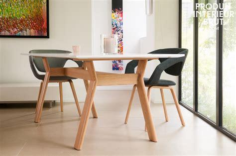 table de cuisine design table cuisine scandinave buluh table haute blanche et