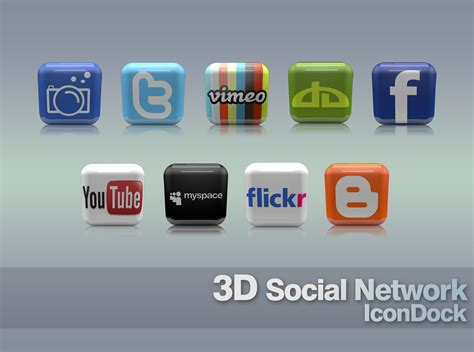 apple si鑒e social 3d social icons free png web icons iconsparadise