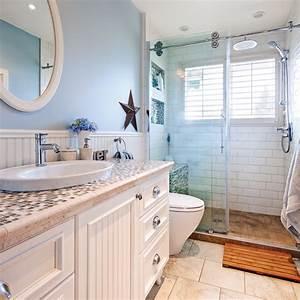 salle de bain au look champetre bord de mer salle de With salle de bain design avec décoration thème de la mer