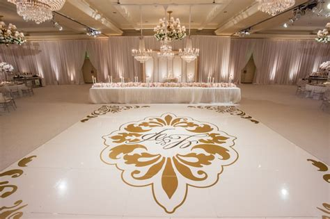 floor decor for weddings reception d 233 cor photos gold mongrammed dance floor inside weddings