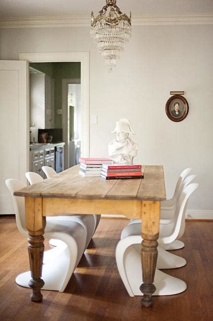curvacious panton chairs working   modern interior