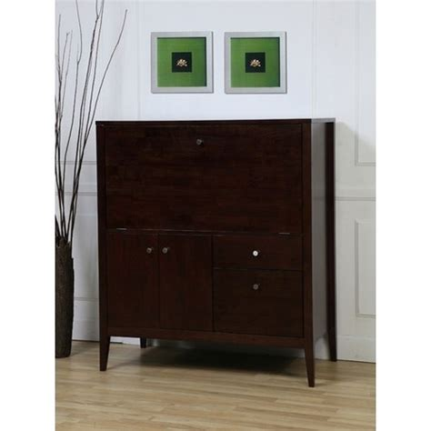 NEW Solid Wood Secretary-Style Computer Armoire