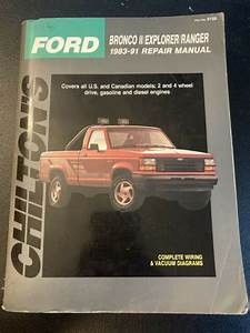Chilton Ford Ranger And Bronco Ii 1983