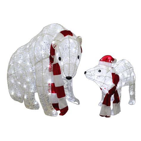 holiday living halloween lights holiday living 2 piece twinkling polar bear outdoor