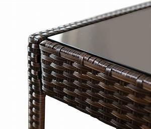 Destockage Salon Complet Pas Cher : table basse resine tressee noir pas cher mobilier design ~ Melissatoandfro.com Idées de Décoration