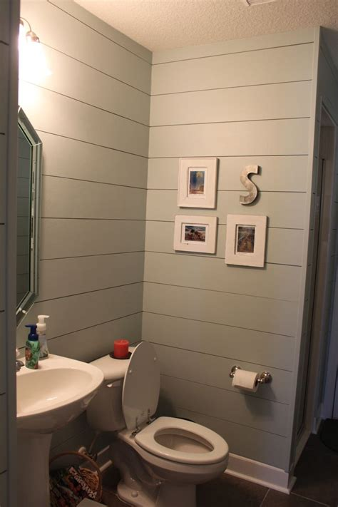 Using Shiplap For Interior Walls by Smooth Hardiplank To Look Like Shiplap Bathrooms In 2019