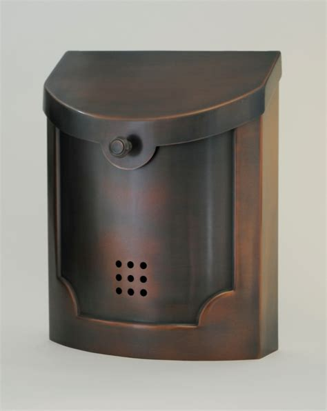 residential mailboxes ecco mailboxes e4ac wall mounted antique copper modern