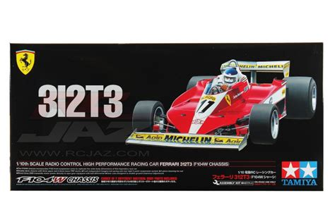 With carlos reuteman in the f1 car from gilles villeneuve number 12. Tamiya #47374 - 1/10 Ferrari 312T3 F104W