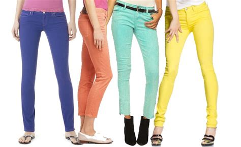 Colored Denim Jeans  Oasis Amor Fashion