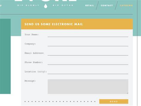 examples  sleek contact forms  web design