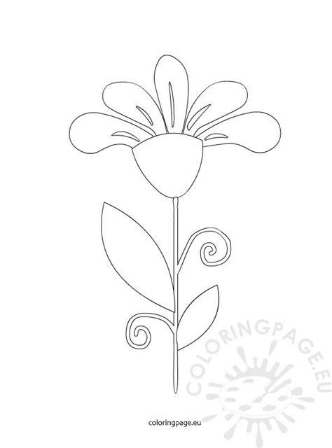 petal flower coloring page