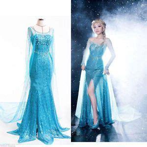 und elsa kostüm damen erwachsene damen princess kost 252 m abendkleid verkleidung ebay costumes