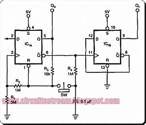 Latch Debouncer Switch Circuit Diagram