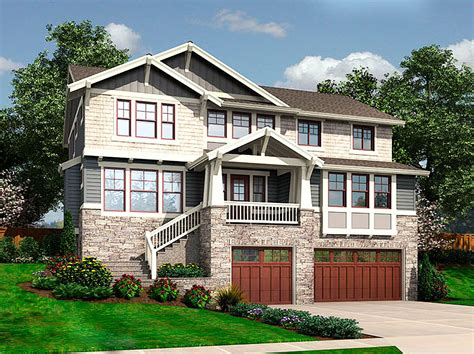 front sloping lot house plans for the front sloping lot 23404jd 2nd floor master suite butler walk in pantry cad
