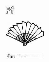 Coloring Fan Popular sketch template