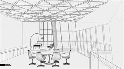 Sketchup Interiors Cliff Line Interior Hidden 3d