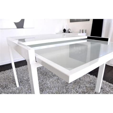 meuble cuisine blanc pas cher extend table extensible blanche 90 180cm achat vente