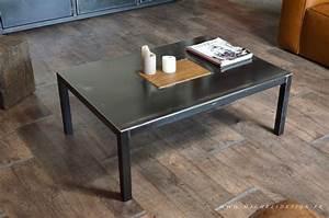 Table Basse Style Industriel : table basse en metal industrielle style industriel ~ Melissatoandfro.com Idées de Décoration