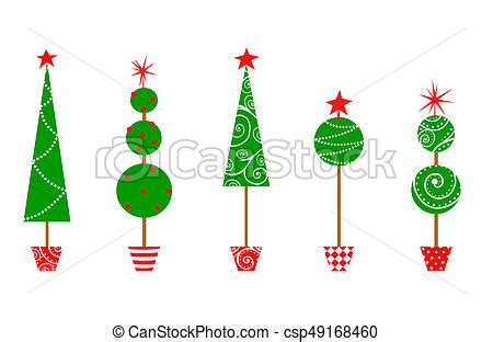 christmas topiary trees  cute topiaries   row