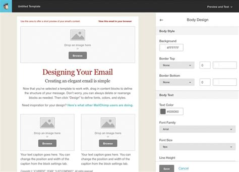 Change Text In Paraboot Template by Tutorial For Creating A Custom Email Template In Mailchimp