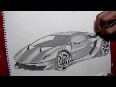 dibujando el lamborghini sesto elemento drawing