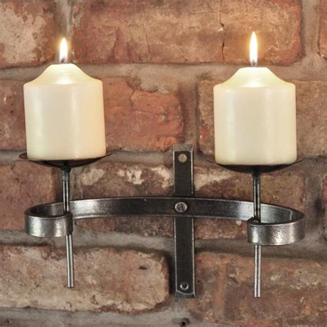 wrought iron candle wall sconce blacksmith wall sconce