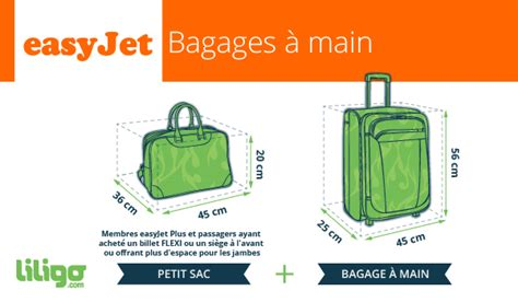 cabin baggage dimensions bagages easyjet prix poids dimensions magazine du