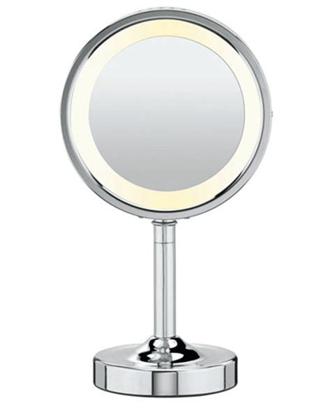 conair lighted mirror conair 5x magnified lighted makeup mirror bathroom