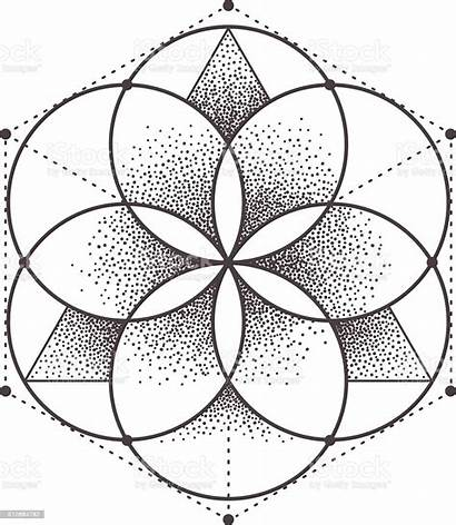 Geometry Sacred Illustration Vector Abstract Circle Geometric