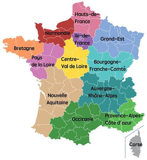 Nouvelle Carte De Region Et Departement by Carte Des R 233 Gions De 2017 Carte 2018