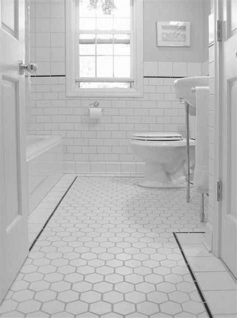 Home Design : Black And White Bathroom Floor Tiles Black