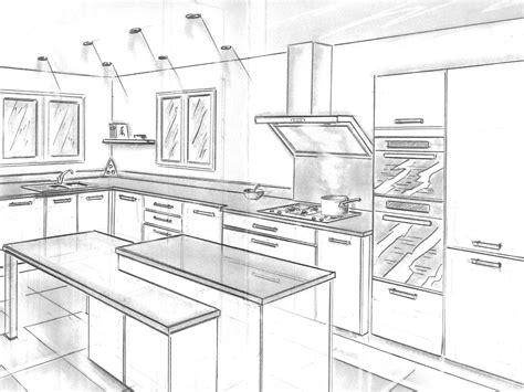 perspective cuisine dessin dessiner sa cuisine en 3d gratuitement evtod