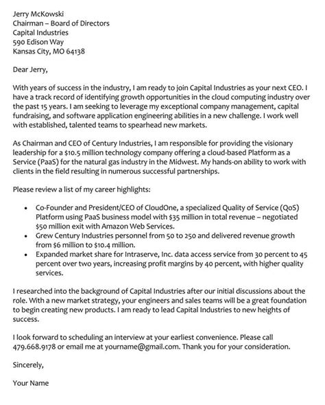 Cfo Cover Letter by 96 Ceo Cover Letter Sles Ceo Cover Letter Rome