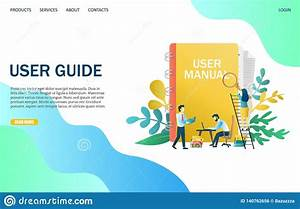 User Guide Vector Website Landing Page Design Template