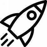 Icon Start Svg Rocket Launch Clipart Button