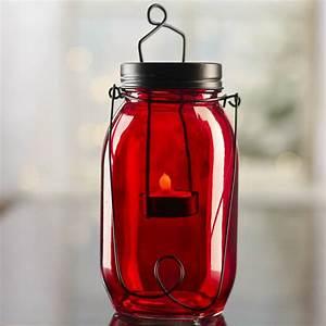 Mason, Jar, Tea, Light, Candle, Lantern, -, Candles, And, Accessories