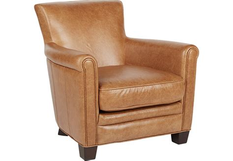 Tamron Brown Leather Accent Chair  Accent Chairs (brown