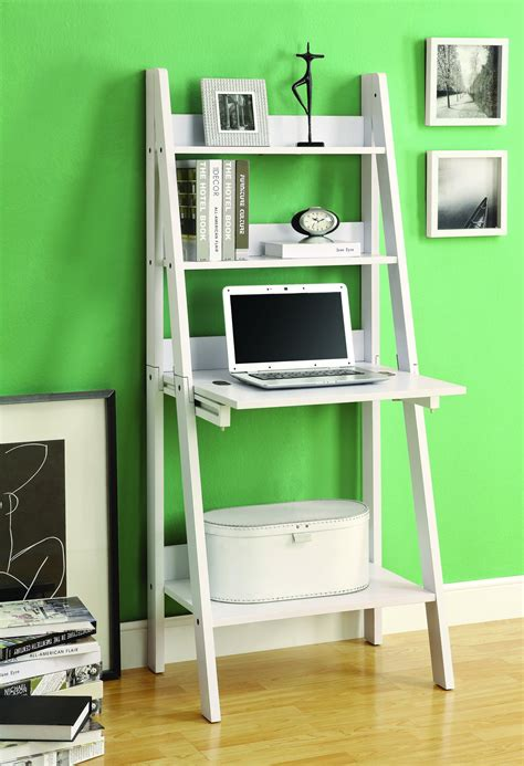 desk and bookshelf combo modern white ladder desk bookcase combination with flip