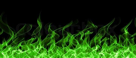 seamless chemical fire  flame border stock photo