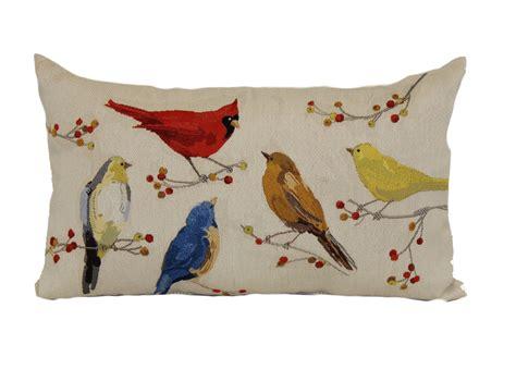 Home Decor Pillows : Birds Tapestry Oblong Pillow