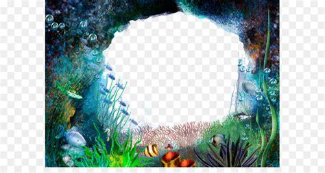 underwater frame material underwater world png
